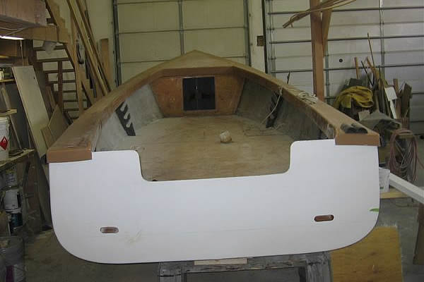 Roger Carroll Boats 19 Foot Monomoy Skiff Boat Repair
